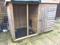 Dog Kennel with run 8ft-4ft, height 5.5ft