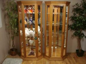 Gorgeous Corner Curio's by Buhler""