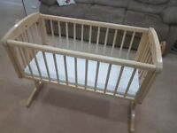 Baby Swinging Crib Bed (From Mothercare) - Feltham/Hounslow