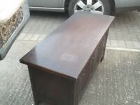 oak small linen chest in jacobean style . collect farnborough hants