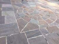 Paving flag stones brick garden slabs