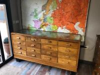 Vintage Haberdashey apothecary cabinet shop counter collectors unit bedroom draws