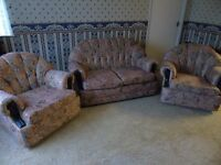TWO SEATER SUITE AND TWO MATCHING CHAIRS