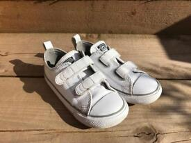Boys leather converse trainers size 10