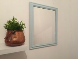 Upcycled Duck Egg Chalky Blue Farmhouse Mirror