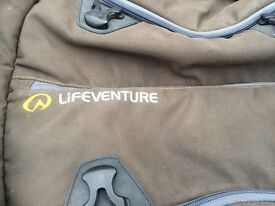 Lifeventure 65 litre travel bag/rucksack with waterproof cover