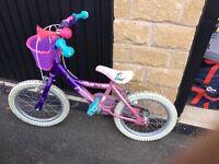 "16"" girls bike from - Moxie girlz from Halfords"