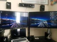 Twin LG Monitors