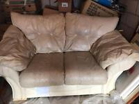 Two seater sofa and chair FREE collection only