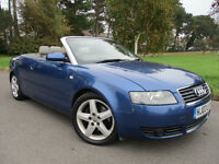 2003 AUDI A4 CABRIOLET SPORT 2.4 AUTOMATIC *80,000* *NEW MOT* *LEATHER* CONVERTIBLE VW GOLF