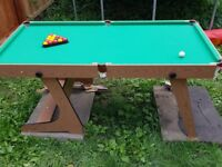 6ftx3ft snooker table used 5 times