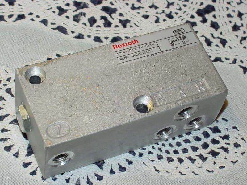 Rexroth MNR: 0820215004 Directional Control Valve, PM AX:10 Bar, FD:13W01 NEW!