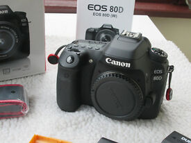 CANON 80D CAMERA BODY + EXTRAS (IMMACULATE)