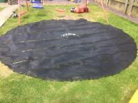 12ft Trampoline jumping pad and shoe storage
