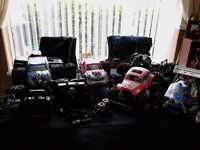 Huge collection of nitro trucks and buggy and original 80s vintage tamiya monster beetle