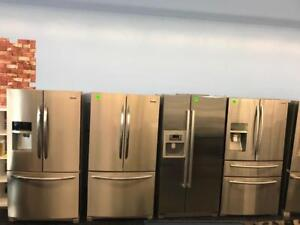 """FRIDGES STAINLESS STEEL 30""""   33"""" OR  36""""(W) 1 YEAR WARRANTY FREE DELIVERY UNTIL SUNDAY"""
