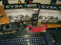 2 x EVGA GTX 970 SC Graphics Cards + SLI Bridge