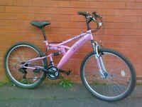Trax Mountain ,City Bike - fully working order , full suspension , comfortable seat , good brakes ..