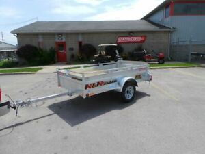 2019 N&N BIG WHEEL 4.5 X 8 Galvanized Utility Trailer Hot dipped