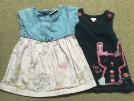 2x 3-6 months baby girl dresses Bluezoo and Next