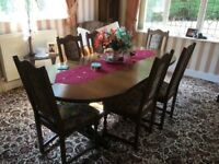 Old Charm Lancaster Extending Dining Table and 6 Chairs Model 2064