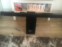 Samsung wireless sound bar and sub woofer