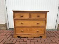 Pine chest of drawers £40.00 ono