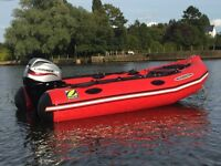 *SOLD* 2009 Zodiac Futura MK11C Aluminium semi rib inflatable boat 25hp EFI outboard trailer *SOLD*