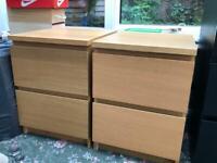2 x IKEA bedside tables