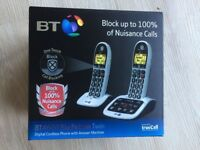 BT 4600 Big Button Digital Cordless Phone - Twin, Answer & Call Blocking