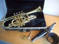 BACH SERIES 1001 TRUMPET complete with HARD CASE, MOUTHPIECE, MUTES etc VERY FINE CONDITION