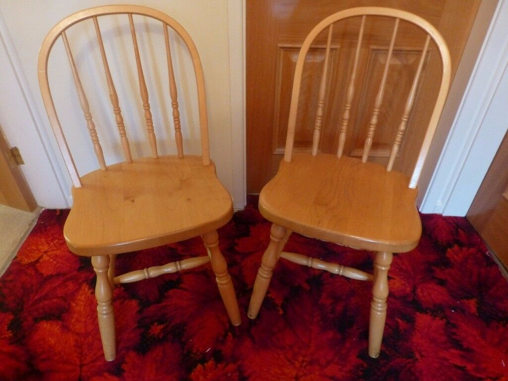 Two light oak kitchen chairs - Excellent condition