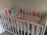 Cot bedding set (bumper and blanket)