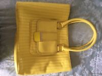 Ted Baker patent yellow large handbag