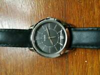 Women's Timex Watch with Black Leather Strap