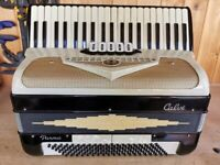 Calvi Parma, 4 Voice Musette (LMMM), 120 Bass, Piano Accordion. Lessons Available.
