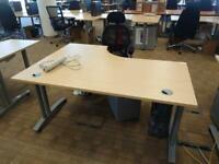 Curved desks £45 each 160cn length