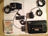 SEGA MASTER SYSTEM 2 WITH 2 CONTROLLERS SONIC BUILT IN AND TAZZ GAME