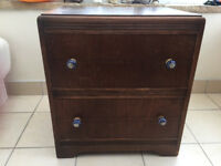 Vintage Chest of Drawers with Indian Porcelain Handles