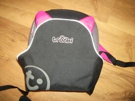 Trunkie backpac booster car seat in vgc