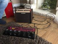 Boss RC-50 Loopstation and Washman Acoustic Combi-Amp