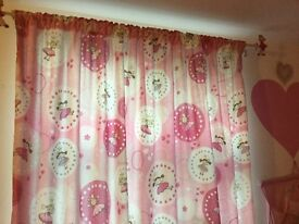 little fairy princess curtains & 2 love heart light shades