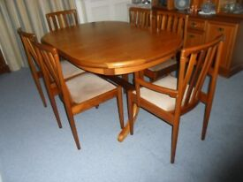 Teak Dining Table & 6 Chairs