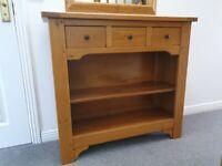 Multiyork Solid Oak Hall Table / Console Unit/ Bookcase - Brittany Range