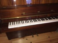 HUPFELD CARMEN polished Mahogany, one owner from new, hardly used in mint condition £800.00