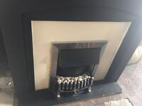 ELECTRIC FIRE WITH FULL SURROUND IN GOOD WORKING ORDER