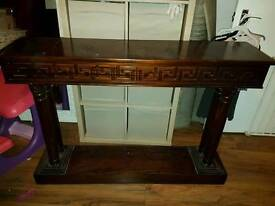 Console Table different design of each side. Collection only