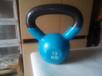 kettle bell weight 7.5 kg iron with plastic type coating