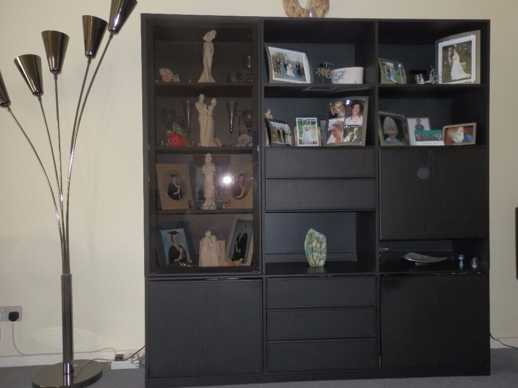 Living Room Display Cabinets Black Ash Living Room Display Cabinet In Gowerton Swansea Gumtree