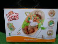 Bright Start Patchwork Zoo Baby Bouncer (New In Box)